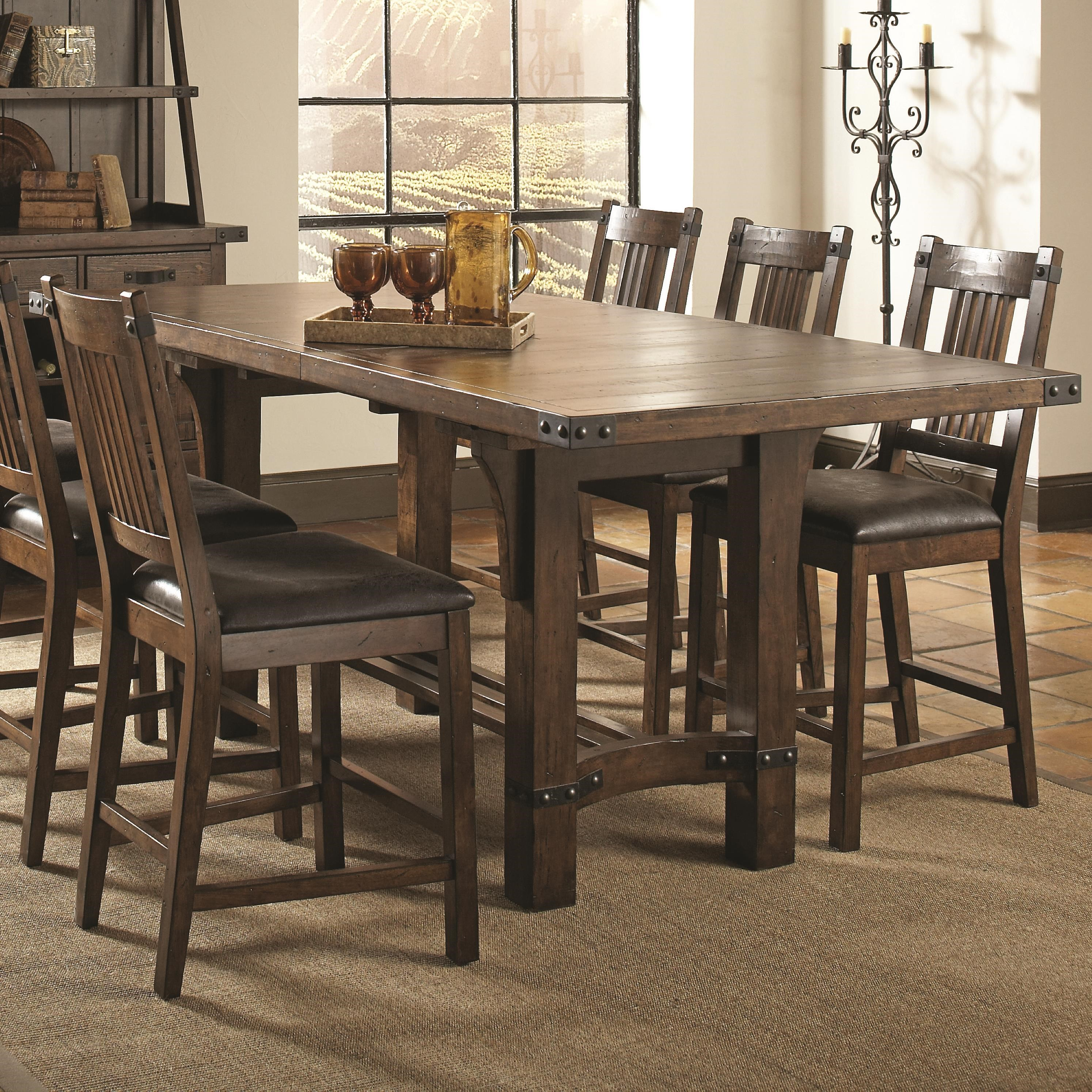 Coaster Padima Rustic Rough-Sawn Counter Height Table with