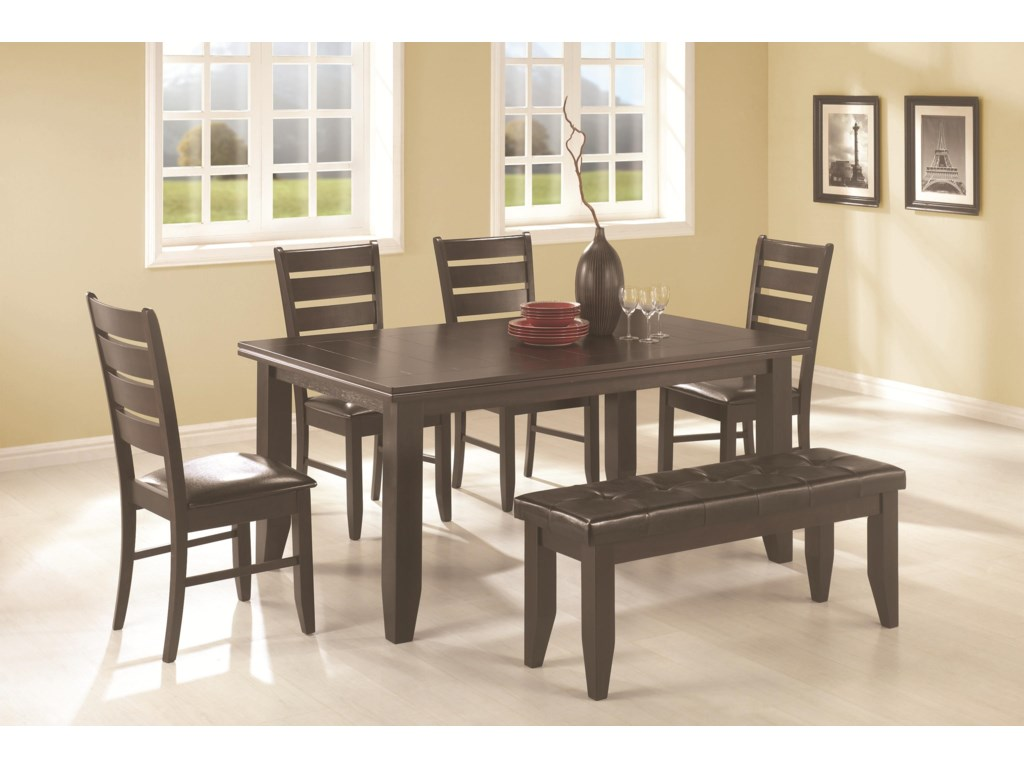 Page 6 Piece Dining Set By Coaster At Dunk Bright Furniture