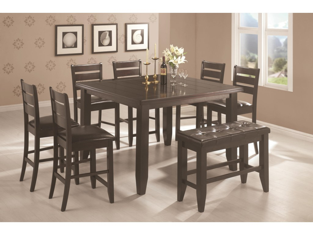 Shown with Counter Stools and Bench