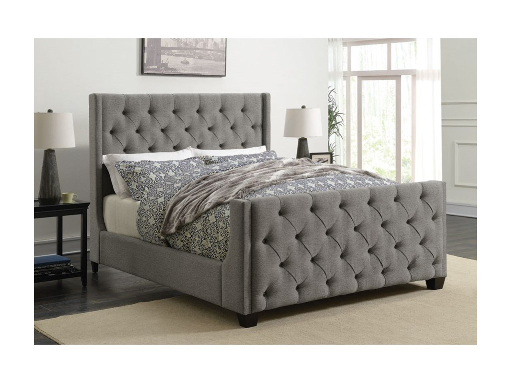 Coaster PalmaUpholstered Queen Bed