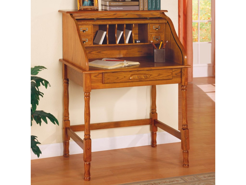 Secretary Desk Shown with Roll Top Open