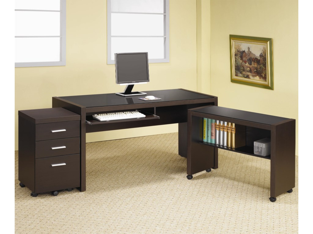Shown as Part of L Shaped Desk