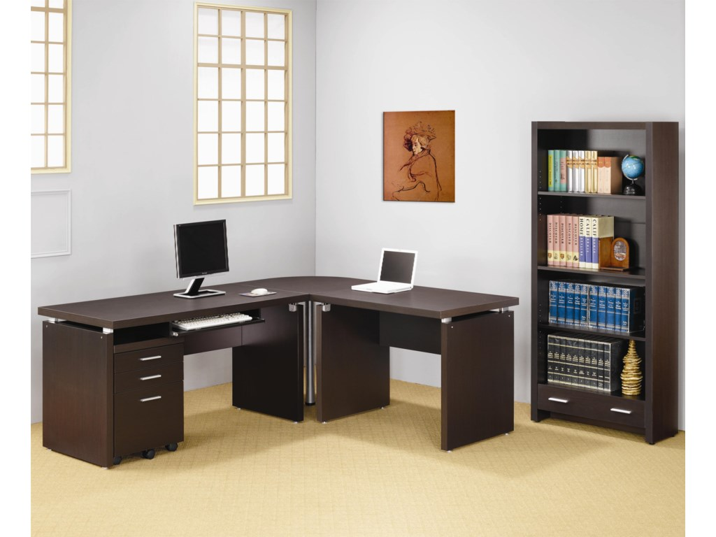 Shown with L Shaped Desk