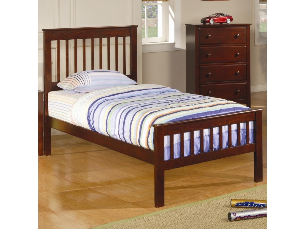 Coaster ParkerTwin Slat Bed with Storage