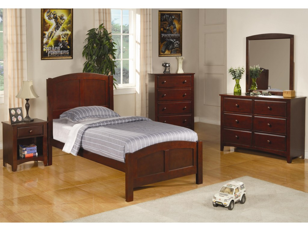 Coaster ParkerTwin Panel Bed