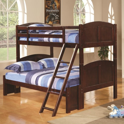 Coaster Parker Twin Over Full Panel Bunk Bed