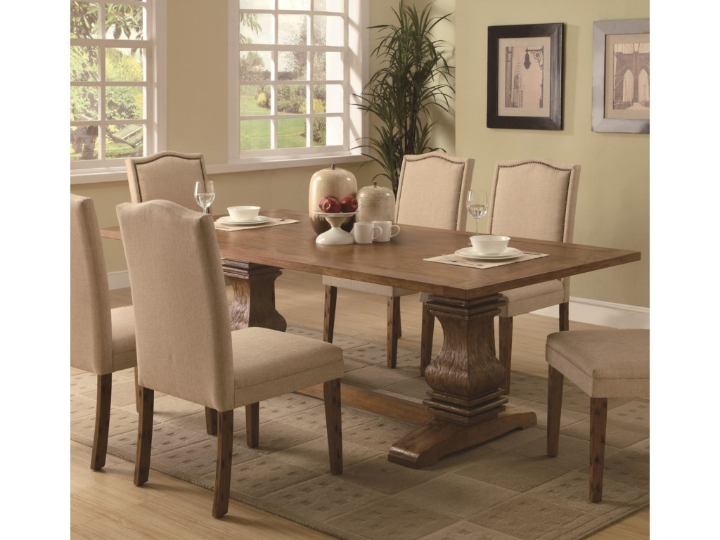 Coaster Parkins7 Piece Dining Table and Chair Set
