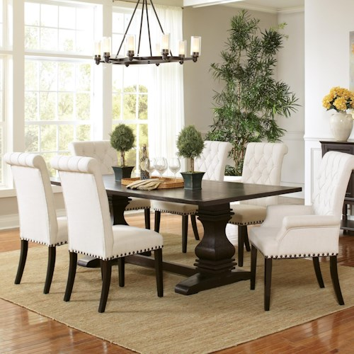 Coaster Parkins Double Pedestal Dining Table