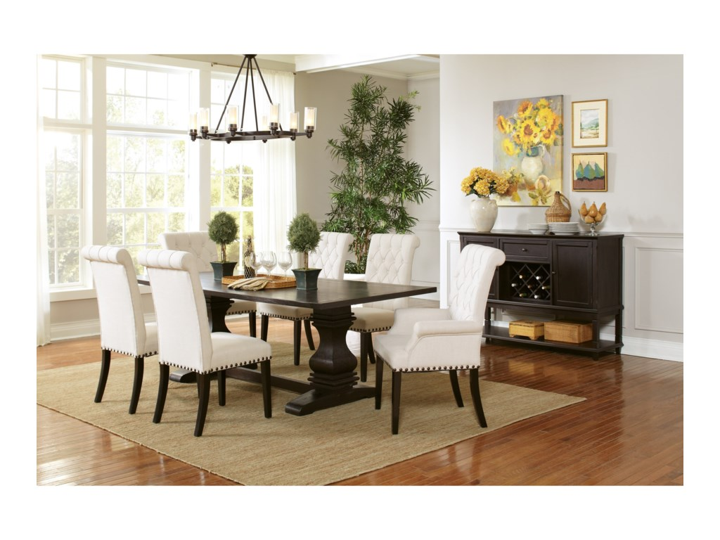 Coaster Parkins 107411 Double Pedestal Dining Table | Beck\'s ...