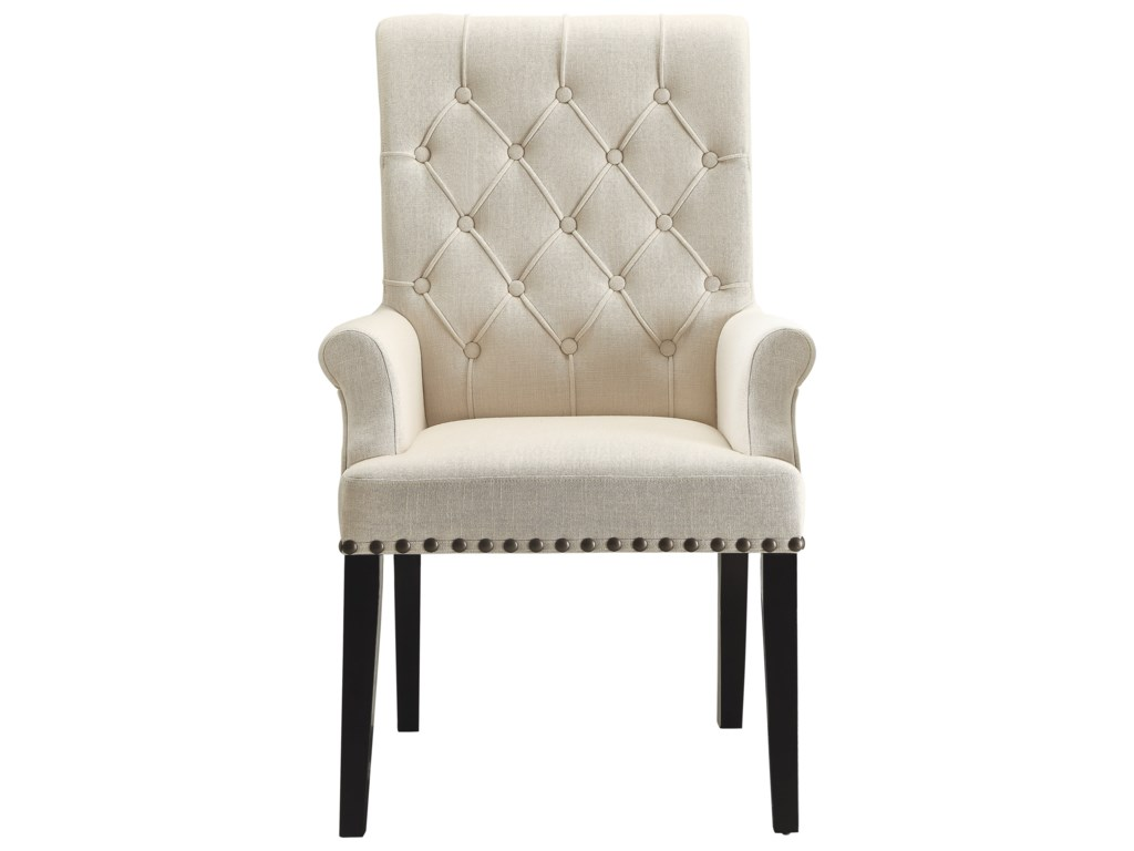 Coaster Parkins Upholstered Dining Arm Chair