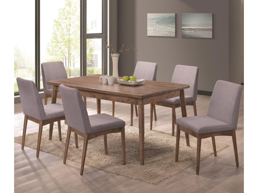Coaster Pasquil Seven Piece Table and Chair Set | Dunk & Bright ...