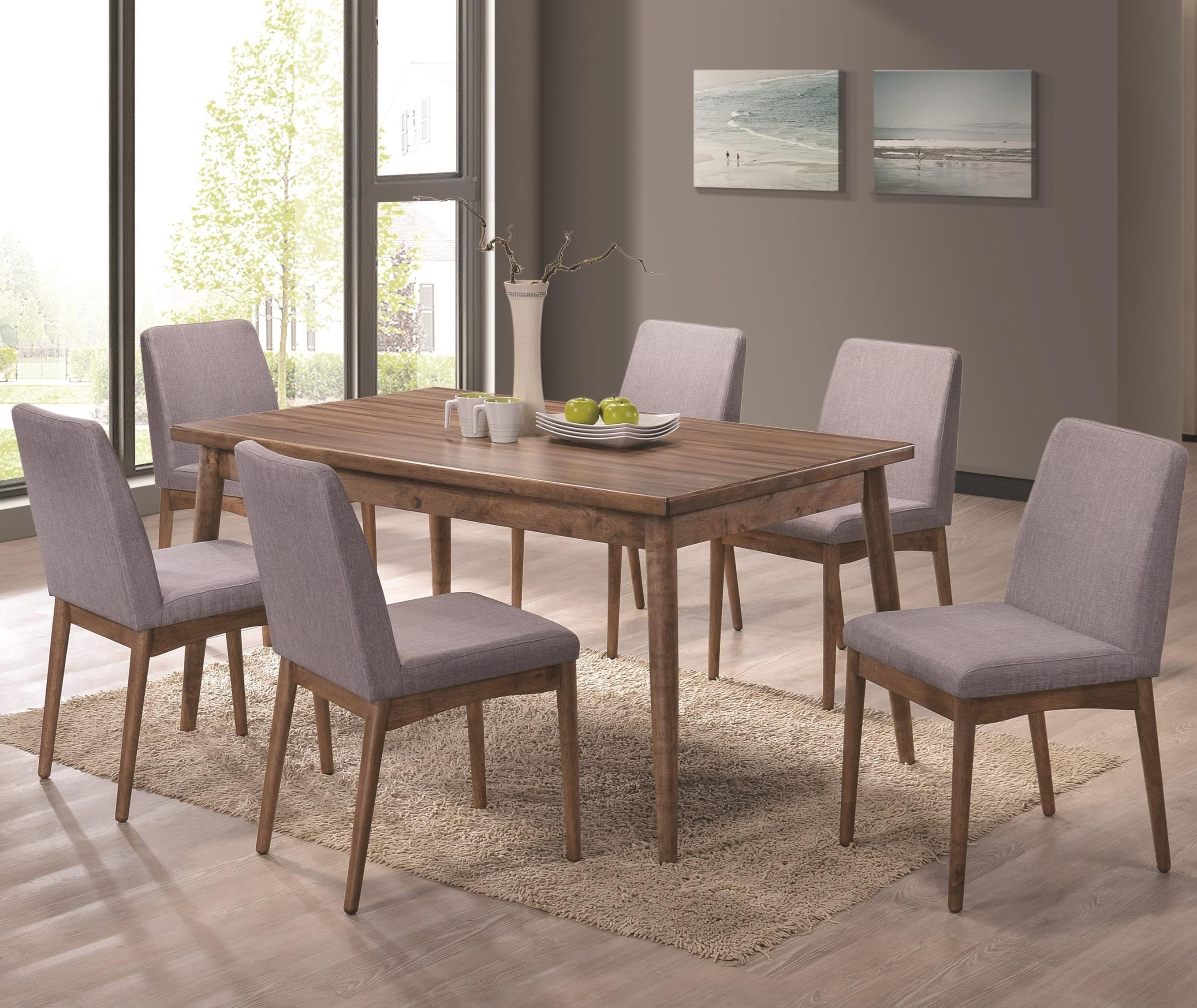 Coaster Pasquil Seven Piece Table And Chair Set