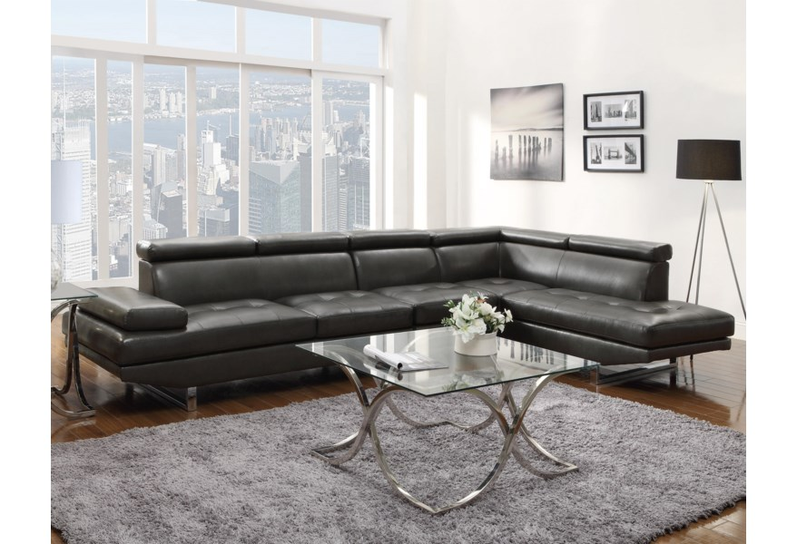 Piper Sectional with Armless Chair