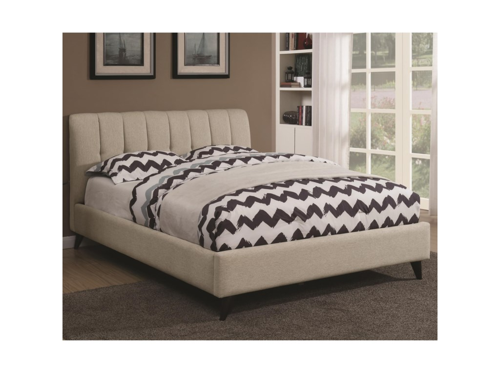brand new b9968 f92c7 Portola Mid Century Modern Upholstered Full Bed by Coaster at Knight  Furniture & Mattress
