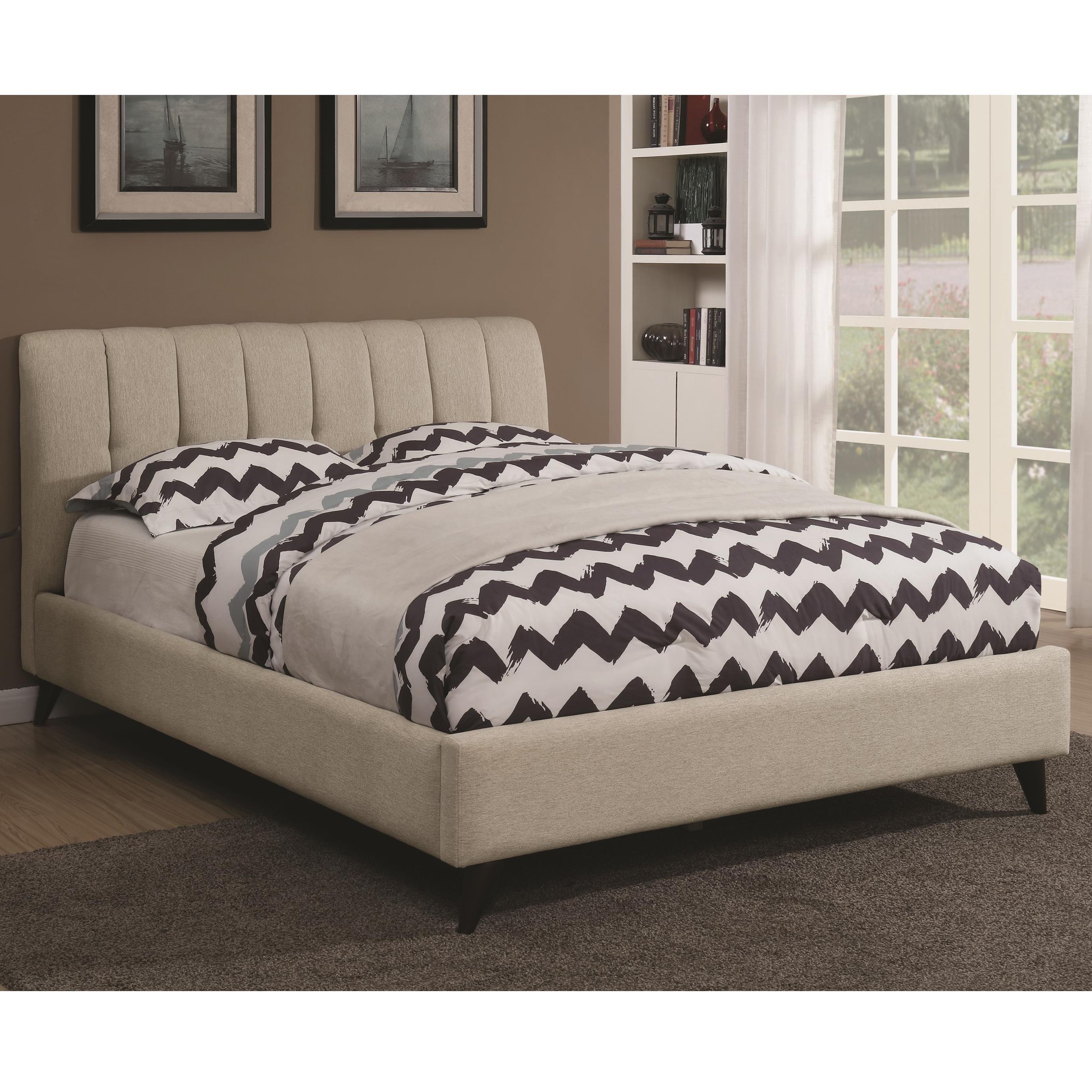 Coaster Portola Mid Century Modern Upholstered Full Bed