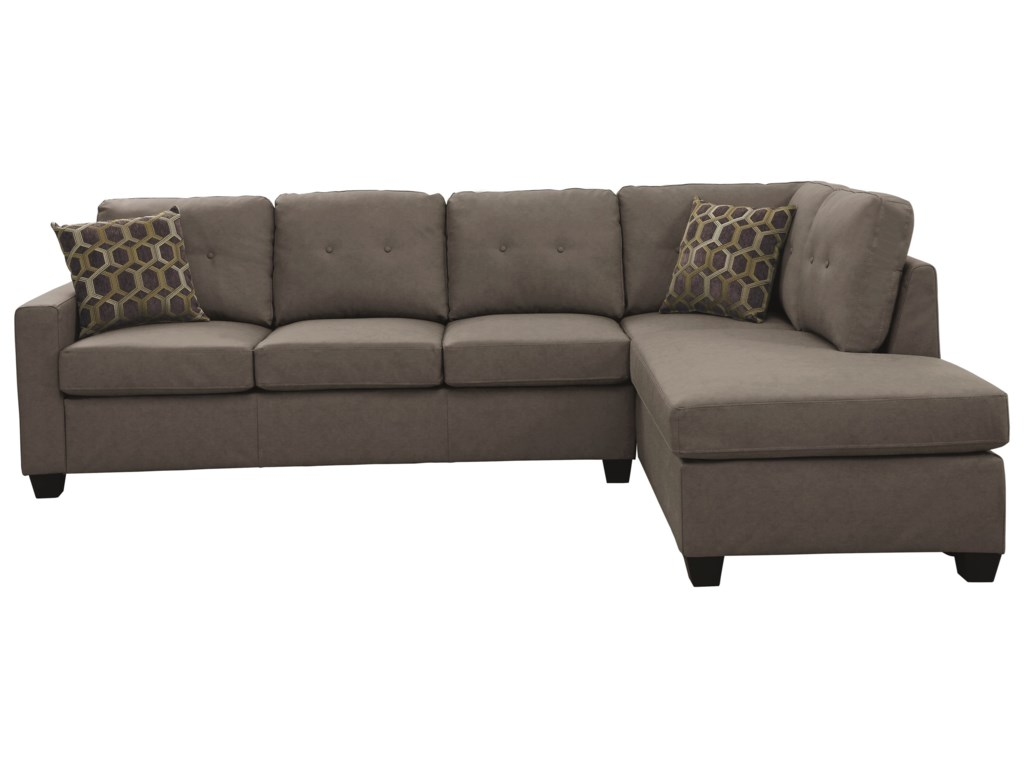 Powell Casual-Contemporary Sectional by Coaster at Value City Furniture