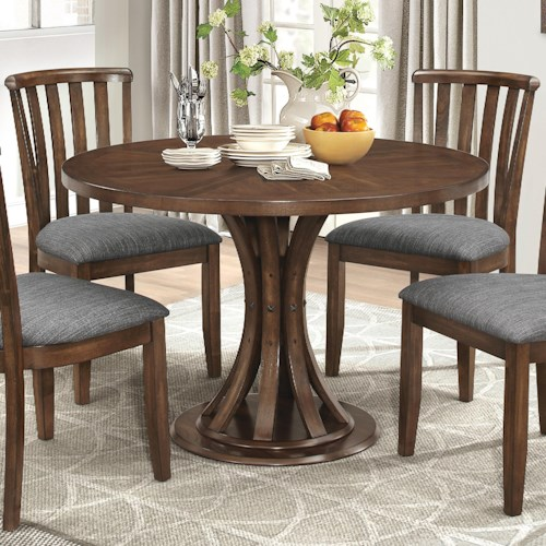 Coaster Prescott Rustic Industrial Dining Table with Slatted ...