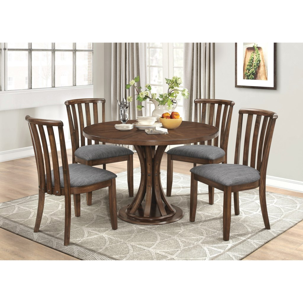 Coaster Prescott Rustic Industrial Dining Table with Slatted
