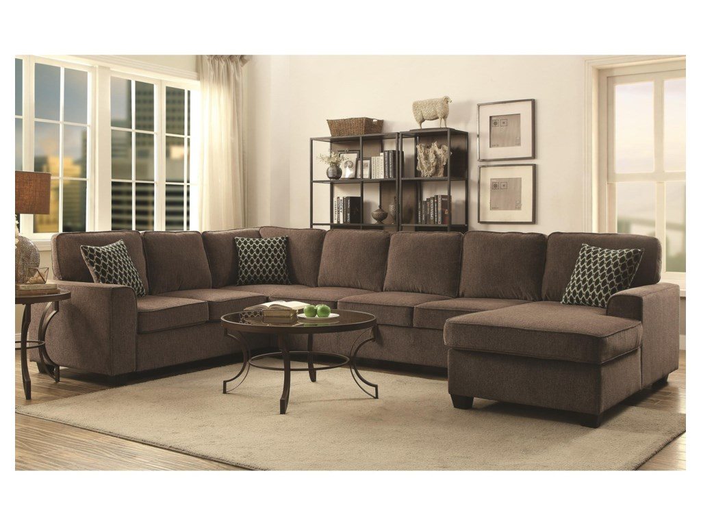 Provence Sectional With Chaise And Built In Storage By Coaster At Value City Furniture