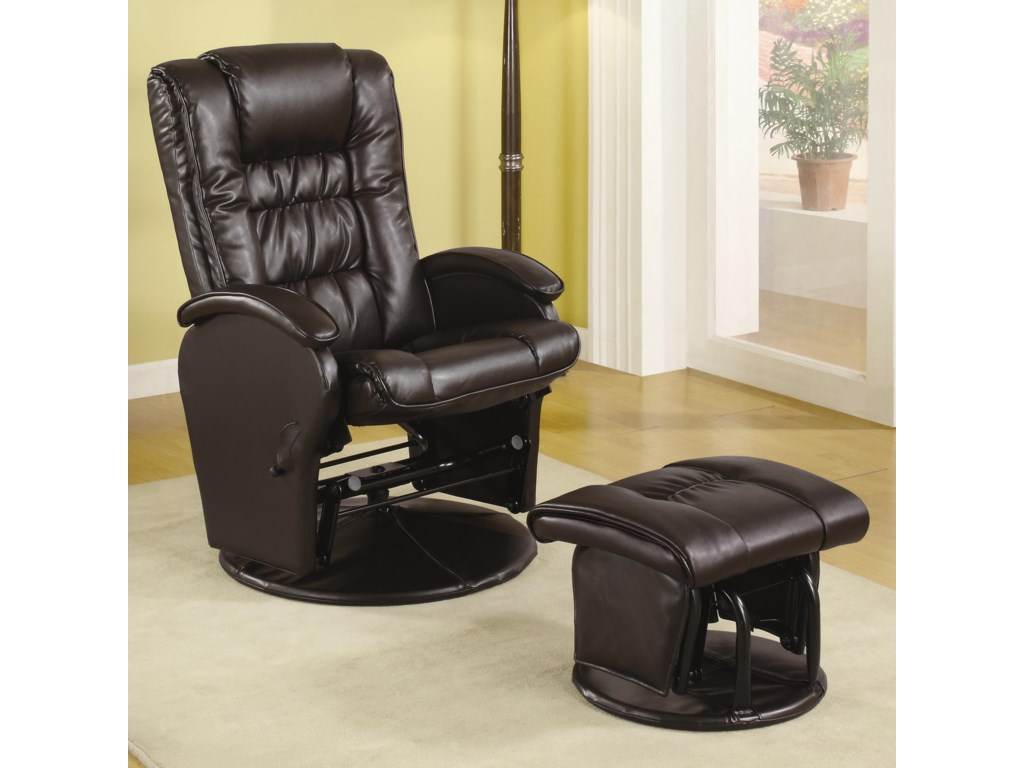 Coaster Recliners with OttomansGlider Recliner with Ottoman