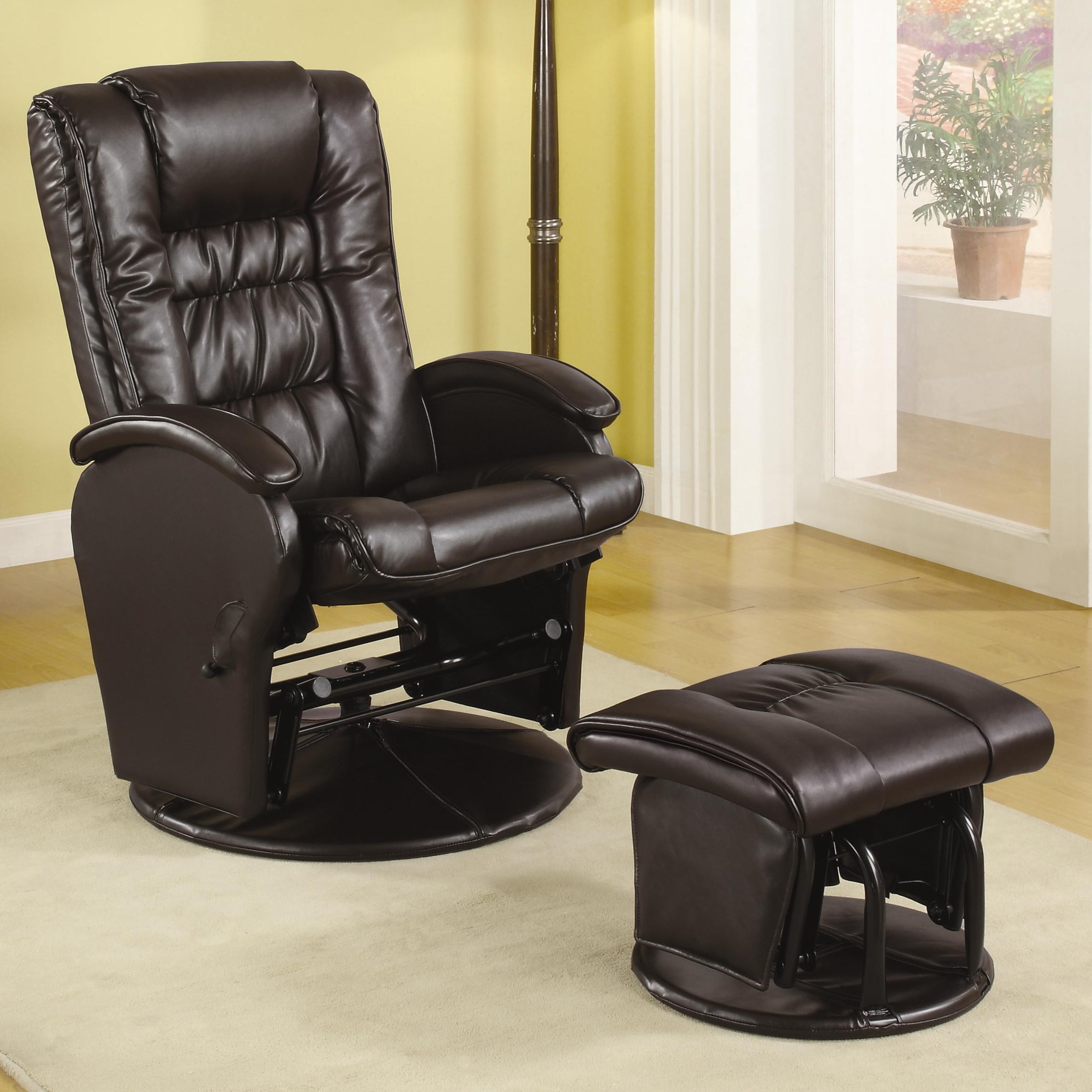 Merveilleux Coaster Recliners With OttomansGlider Recliner With Ottoman ...