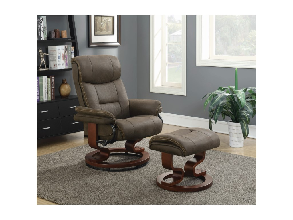 Coaster Recliners with OttomansRecliner w/ Ottoman