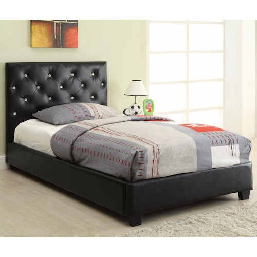 Coaster Regina Upholstered Twin Bed with Button Tufting