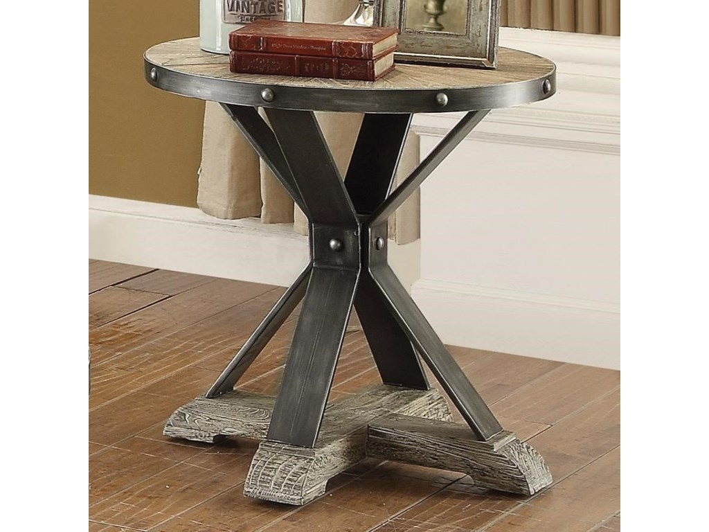 Coaster Rhett Round Industrial End Table   Dunk   Bright Furniture   End  Tables. Coaster Rhett Round Industrial End Table   Dunk   Bright Furniture