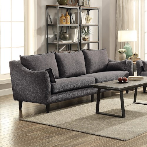 Coaster Rhys Modern Three Cushion Sofa