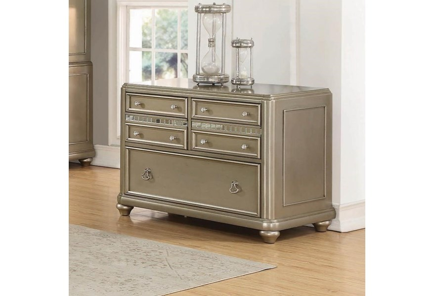 Coaster Ritzville Contemporary File Cabinet With Decorative