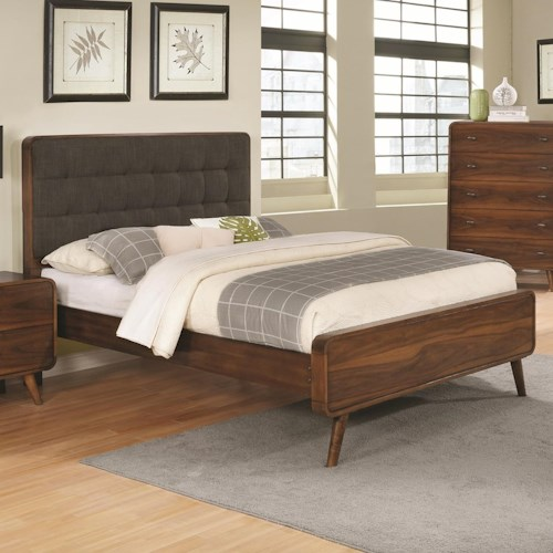 Coaster Robyn California King Bed with Tufted Upholstered Headboard