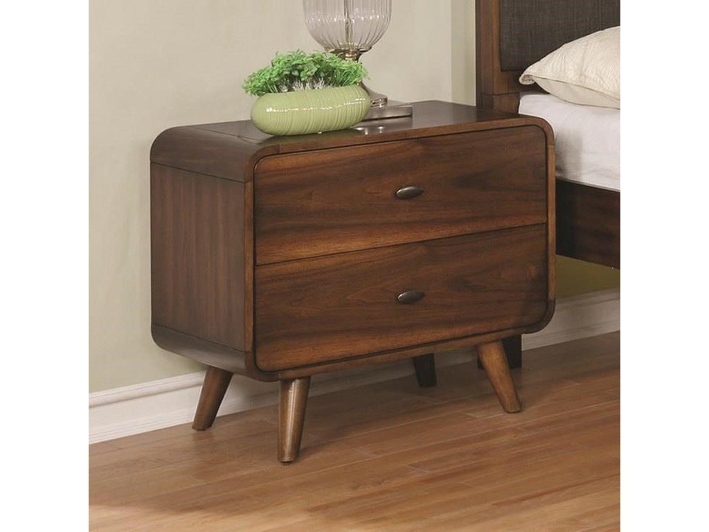 Coaster Robyn Mid Century Modern 1 Drawer Nightstand Value City