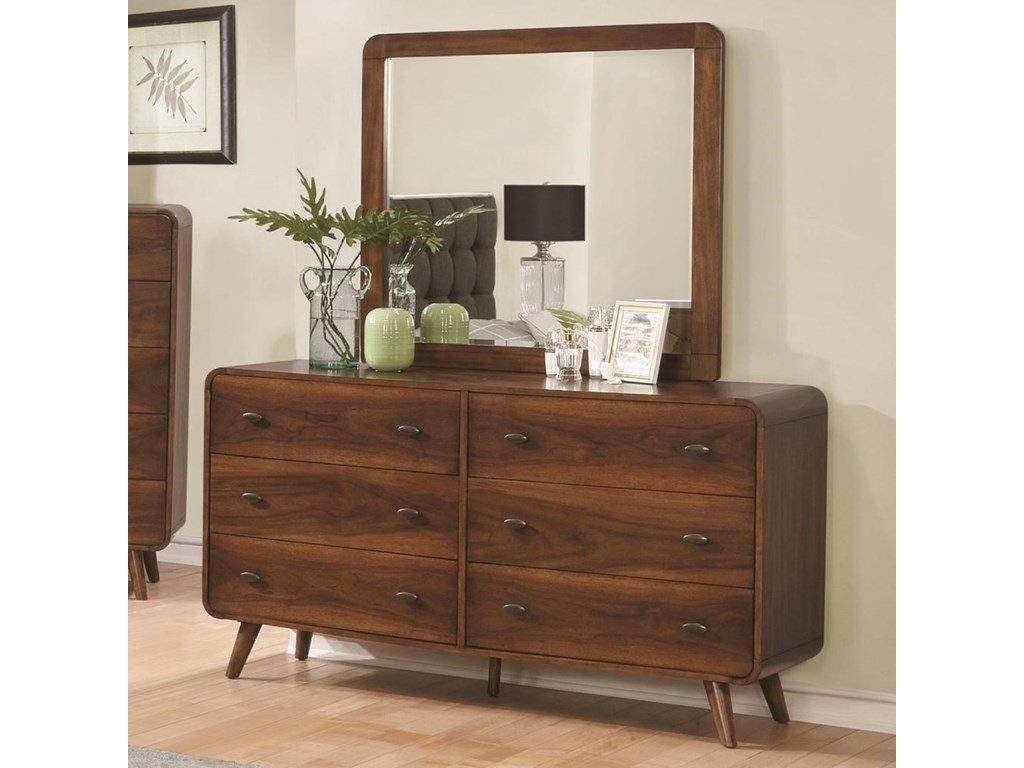 Coaster Robyndresser And Mirror Combo