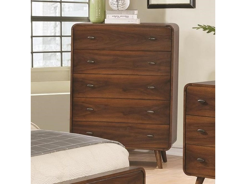 Robyn Mid Century Modern 5 Drawer Chest By Coaster At Value City Furniture