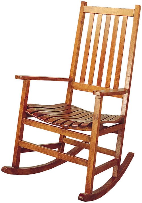 Coaster Rockers Casual Traditional Wood Rocker