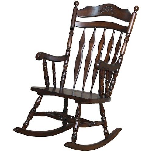 Coaster Rockers Traditional Country Wood Rocker