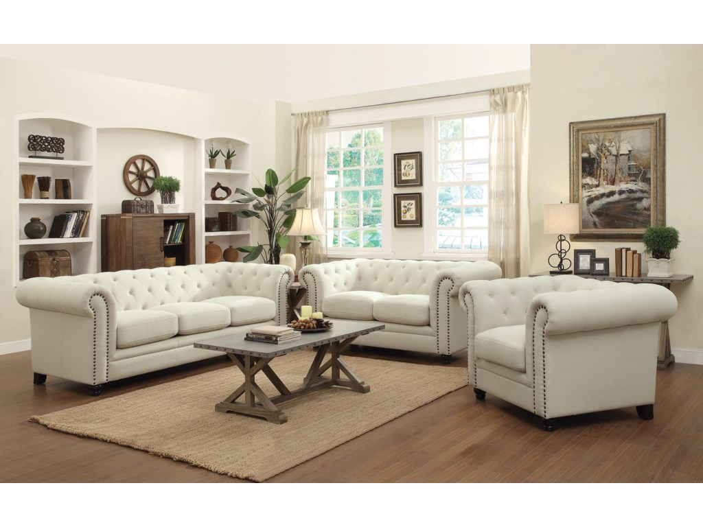 Furniture upholstery group bay city saginaw - Coaster Roy Stationary Living Room Group Prime Brothers Furniture Stationary Living Room Groups