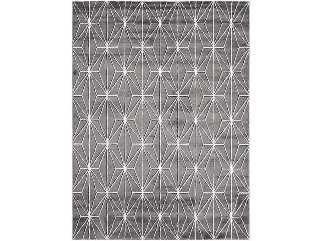Coaster Rugs Charcoal Geometric Rug 7 10 X 6