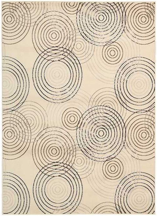Coaster Rugs Beige Circle Pattern Rug 7'10
