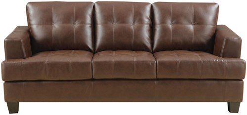 Coaster Samuel Stationary Sofa w/ Attached Seat Cushions