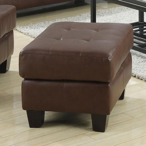 Coaster Samuel Chair Ottoman w/ Cushioned Top