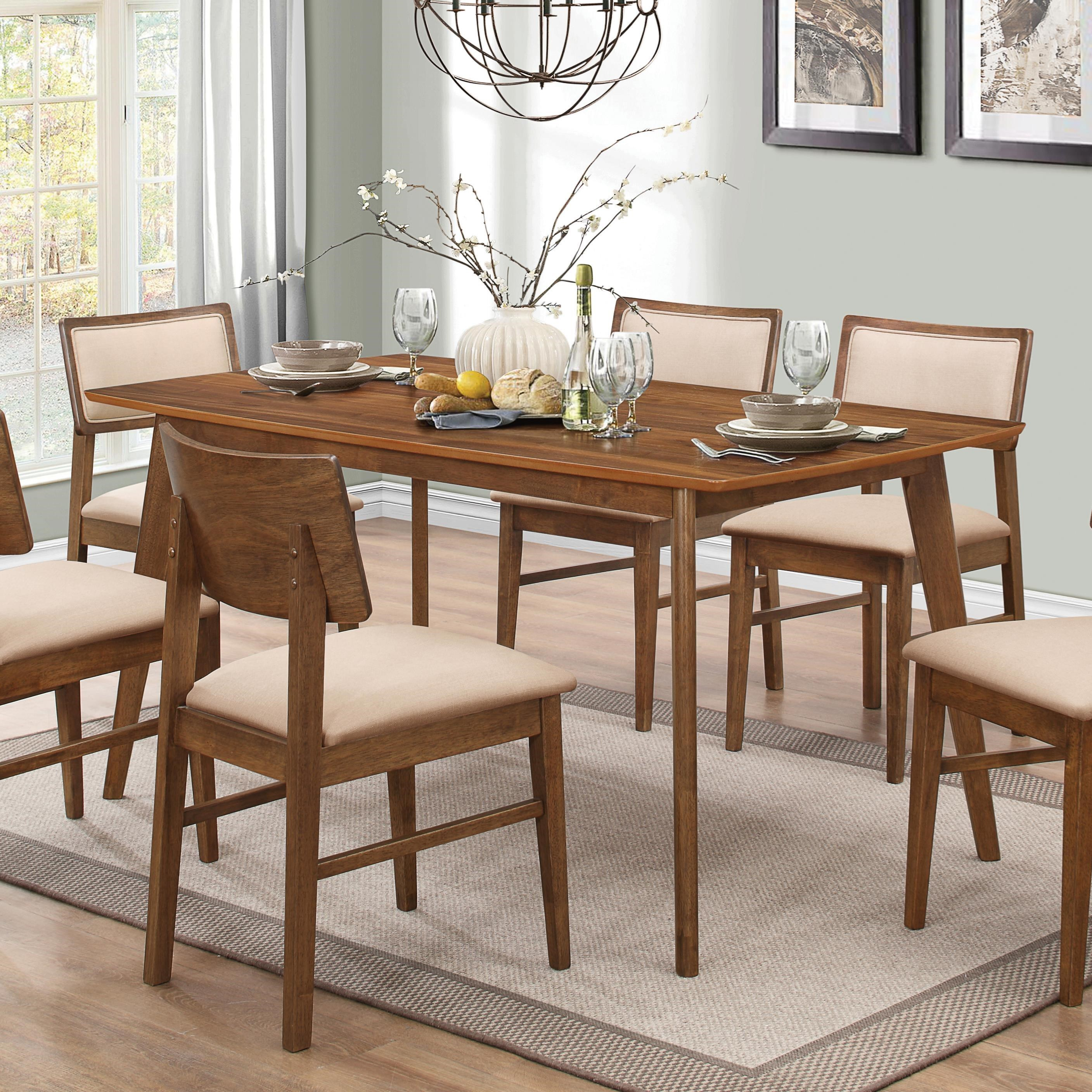coaster sasha retro rectangular dining table