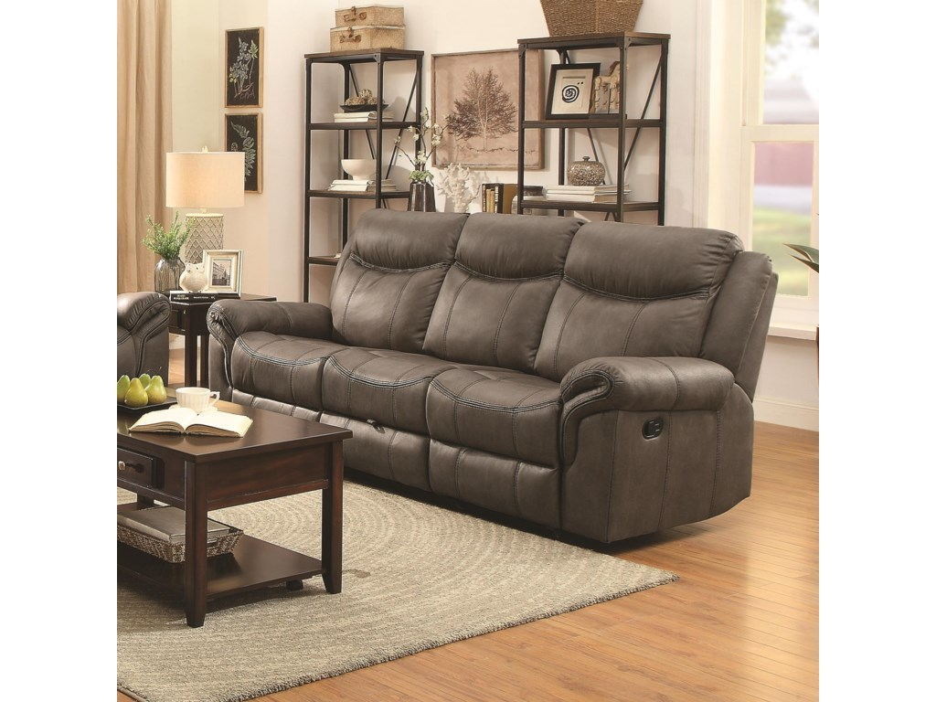Coaster Sawyer Motion Motion Sofa With Pillow Arms And Outlet