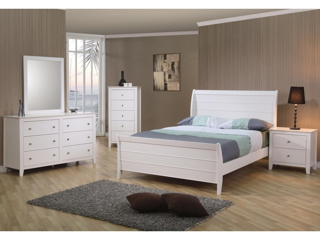 Shown with Dresser, Chest, Sleigh Bed, and Nightstand