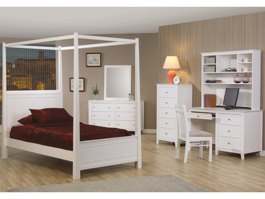 Shown with Computer Desk & Hutch, Post Bed, and Dresser & Mirror
