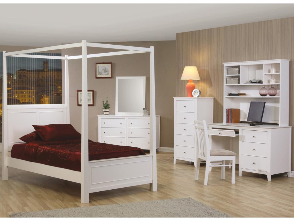 Shown with Post Bed, Dresser & Mirror and Chest
