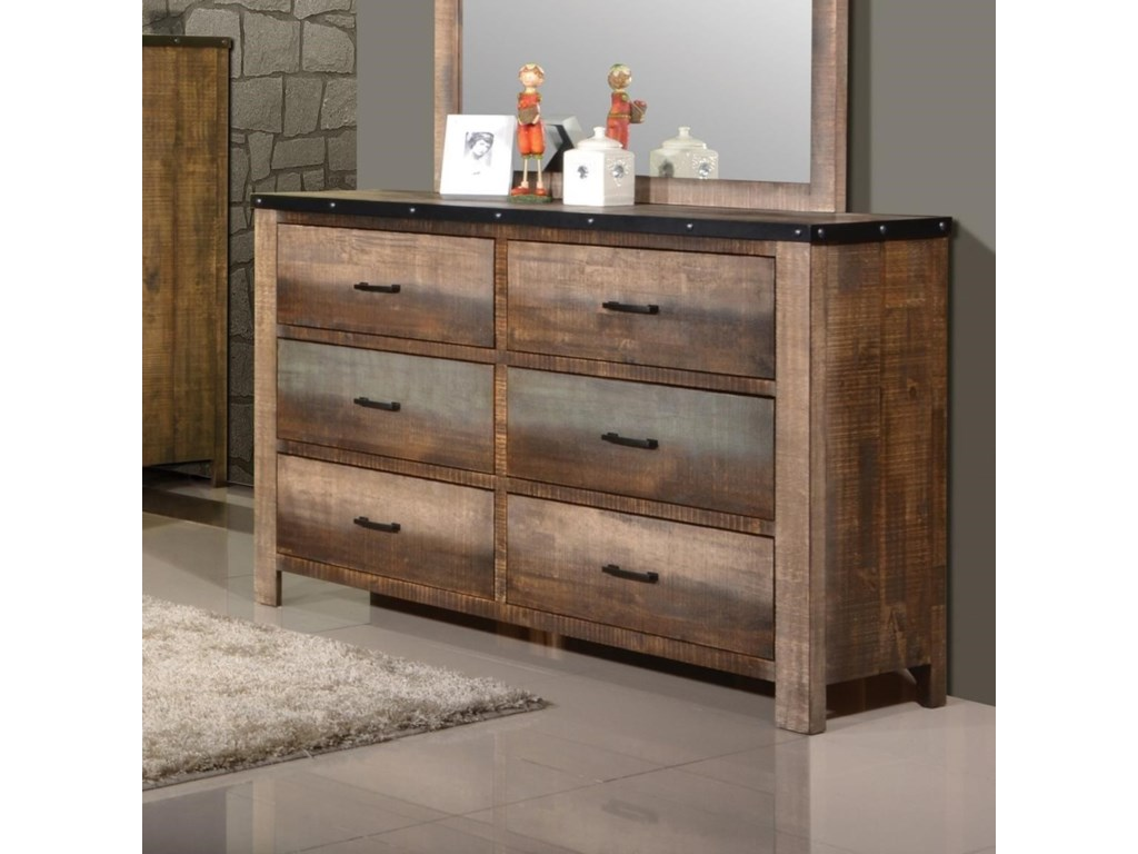 Coaster Sembene Rustic Dresser With Six Drawers Value City