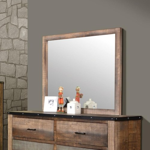 Coaster Sembene Mirror with Rustic Wood Frame