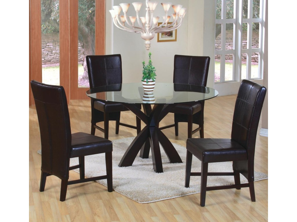 Shown in Room Setting with Parson Chairs