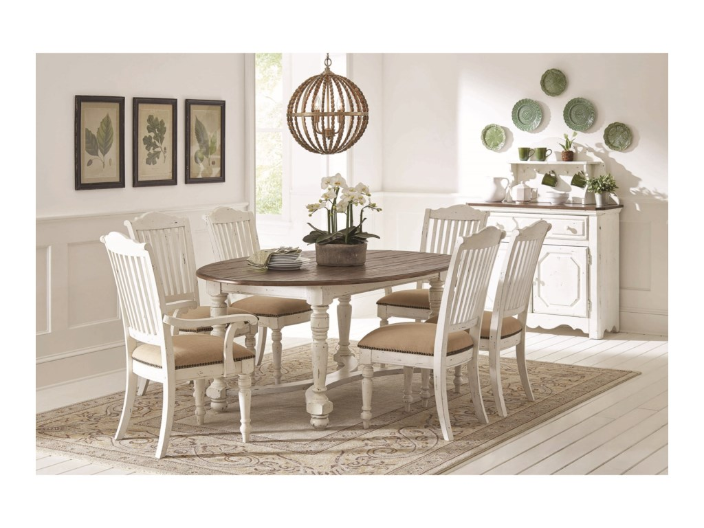 Coaster SimpsonDining Room Group with Oval Table